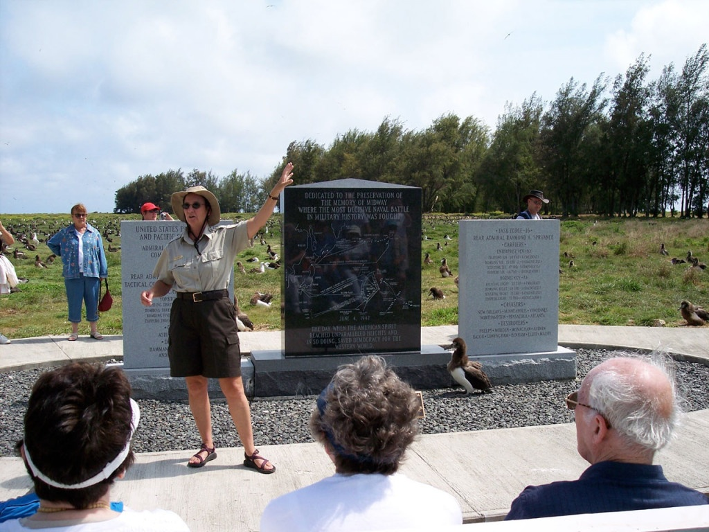 Midway Memorial on Sand Island 2005