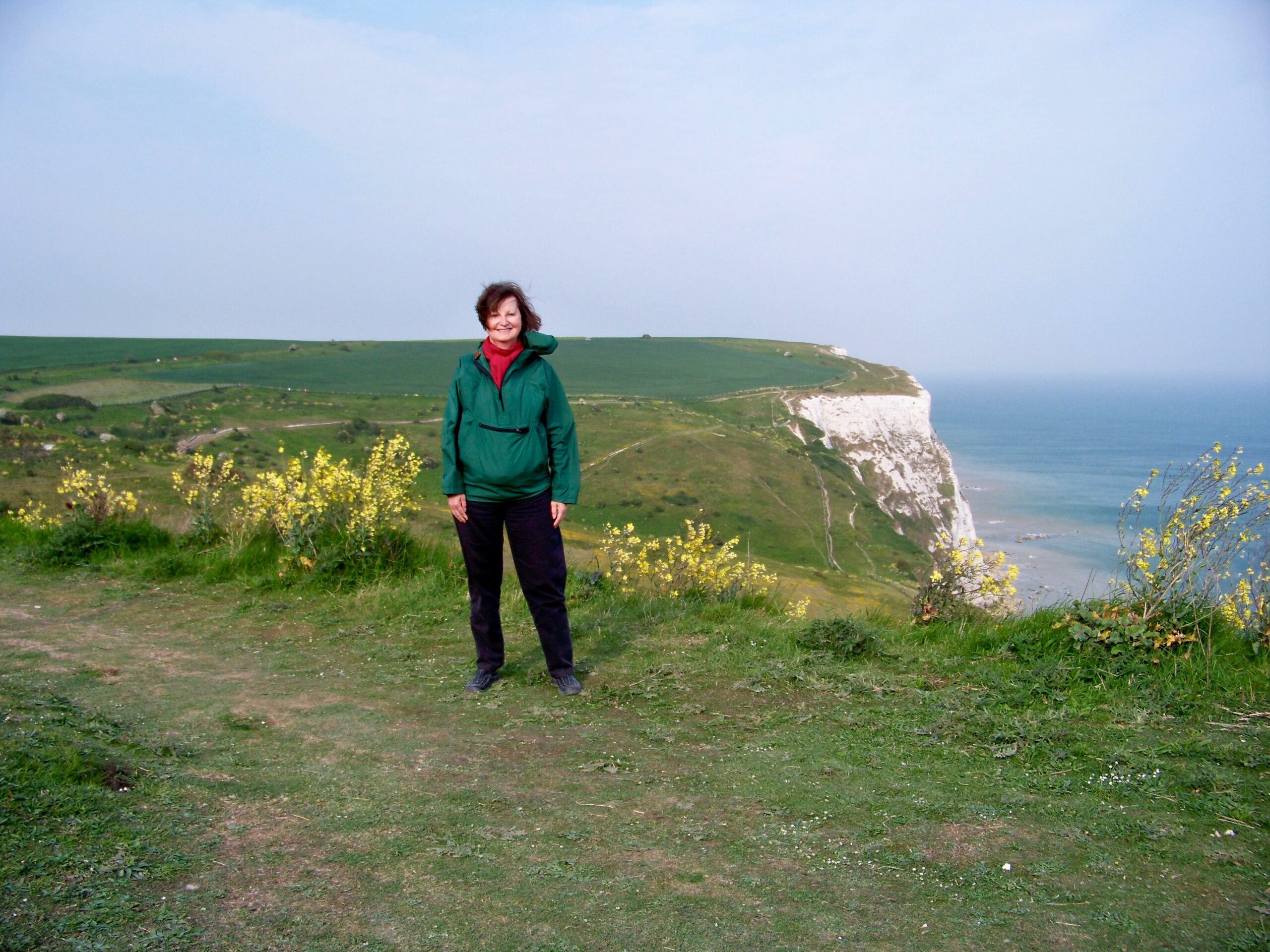 Visiting the White Cliffs of Dover.